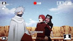 Gaara Kankuro and Kakashi ~ Omg I was laughin harder than I probably should've been! This scene was so funny