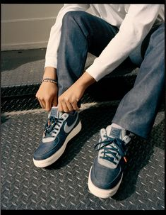 19 Best 3x1   Nike Air Force 1 images   Denim jeans, Women