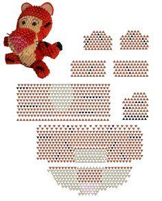 3d origami tigre diagramme                                                                                                                                                                                 Más