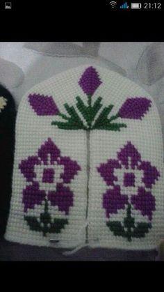 [Free Crochet Pattern] Around Tunisian Crochet Stitches, Knitting Stitches, Baby Knitting, Knitting Patterns, Crochet Table Runner Pattern, Crochet Blanket Patterns, Crochet Baby Booties, Crochet Slippers, Handmade Kids Bags