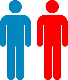 Blue And Red Person Symbol