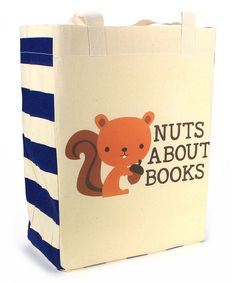 Look at this 'Nuts About Books' Squirrel Tote on #zulily today!