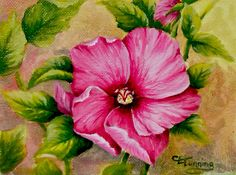 Acrylic Painting Ideas For Beginners | Rose of Sharon /Acrylics with Blending Medium on Canvas Board