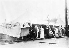 The Vancouver General Hospital tent at the Vancouver Exhibition in The ten… - Everything About Personal Hygiene Nursing In Canada, History Of Nursing, Baby Contest, Medical Problems, Personal Hygiene, General Hospital, Medical Care, History Facts, Vintage Photography