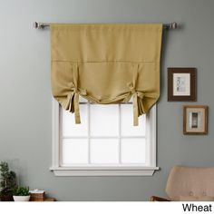 Shop for Aurora Home Solid Insulated Blackout Tie Up Shade. Get free delivery On EVERYTHING* Overstock - Your Online Home Decor Outlet Store! Tie Up Curtains, Luxury Curtains, Blackout Curtains, Panel Curtains, Modern Curtains, Curtains Walmart, Window Treatment Store, Tie Up Shades, Blackout Shades