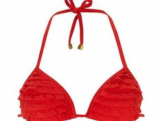 Dorothy Perkins Womens Red 3D Ruffle Triangle Bikini Top- Red Red 3D multiple ruffle in a moulded triangle cup. 80% Polyamide,20% Elastane. Machine washable. http://www.comparestoreprices.co.uk/womens-shoes/dorothy-perkins-womens-red-3d-ruffle-triangle-bikini-top-red.asp