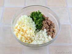 Салат с сайрой — 5 шаг