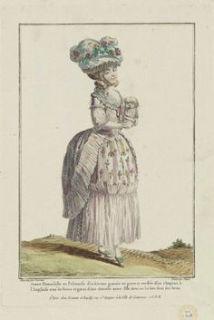 Gallerie des Modes, 1778.   What a delightful little confection of a dress!