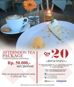 Great deals for you craving high tea or afternoon tea or whatever we can call it!  Put some sweetness accompanying with Tea or Coffee plus breath taking view from 20th floor of @astonmakassar and off course enjoying the marvelous sun goes down only at @on20makassar  EVERYDAYYYYYYY FROM 2PM - 5 PM Only Rp. 50.000,- nett for all your favorite dessert.  For more info, pls call +62411 362 0800  #on20makassar | on20makassar.com
