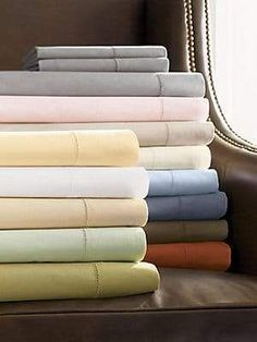 We love our Sferra Celeste Collection Bed Sheets! Woven to 406 threads per square inch. Fabric: Italian Spun Egyptian Cotton Percale Made in Italy Double Headboard, Beige Bed Linen, Egyptian Cotton Sheets, Percale Sheets, Bed Sheets, Queen Sheets, Luxury Bedding Collections, Cotton Sheet Sets, Luxury Home Decor
