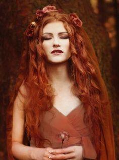 Gillian Gamble. Beautiful hair colour.