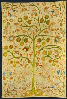 Tree of life, beadspreed from Castelo Branco, Museu Nacional de Arte Antiga, Lisbon