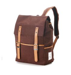 Sale - Belt point Cotton Backpack (Brown) 78 -> 50USD