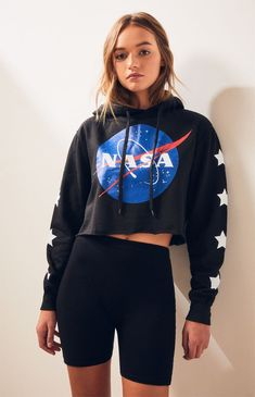 NASA Cropped Hoodie | PacSun