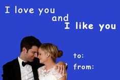 """Community Post: 13 Valentines For """"Parks And Recreation"""" Fans Valentines Day Card Memes, Nerd Valentine, Valentine Wishes, Valentine Cards, Parks N Rec, Parks And Recreation, Galentines Day Ideas, Pick Up Lines Funny, Funny Pick"""