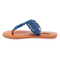 Women's Mad Love Lee Thong Sandals - Blue 11, Durable