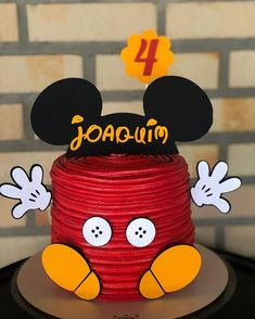 Mickey Mouse Birthday Decorations, Mickey Mouse Birthday Invitations, Mickey Mouse 1st Birthday, Baby 1st Birthday, Circus Birthday, Minnie Mouse Party, Bolo Do Mickey Mouse, Mickey Mouse And Friends, Disney Parties