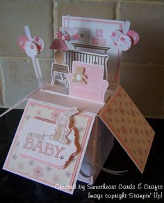 Card in a Box - Baby Girl Using Stampin' Up! MDS  & Lil' Inkers Designs