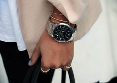 Minimal + Classic: tan, black, silver watch