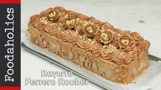 Πανεύκολο παγωτό ferrero rocher με 4 υλικά   foodaholics Ferrero Rocher, Tiramisu, Deserts, Ice Cream, Baking, Ethnic Recipes, Food, Youtube, Cakes