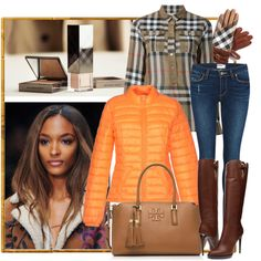 Burberry fun by milkalilien on Polyvore featuring Burberry, Vero Moda, Paige Denim and Tory Burch