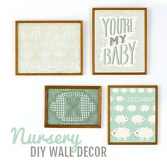And this pretty set that pairs with fabric: | 24 Awesome Nursery Wall Prints That Cost $0