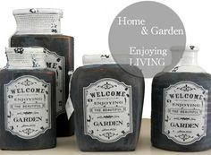 Κεραμικά βάζα σε country style για το εξοχικό, τη βεράντα και κάθε χώρο που θέλεις να του δώσεις ένα πιο ανάλαφρο και εξοχικό στυλ Beautiful Gardens, Home And Garden, Coffee, Kaffee, Cup Of Coffee