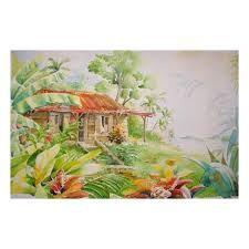 """Résultat de recherche d'images pour """"aquarelles case creole"""""""