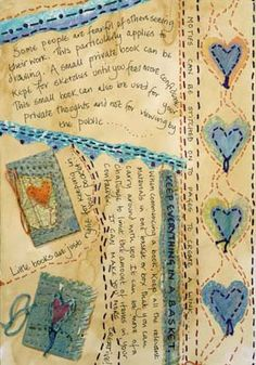 Frances Pickering is a textile artist and teacher who specialises in unique handmade books and journals Textile Fiber Art, Textile Artists, Fabric Journals, Art Journals, Doodle, Fabric Art, Fabric Books, Art Journal Inspiration, Journal Ideas