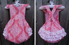 Coral Ruffle Bubble from Smocked Auctions