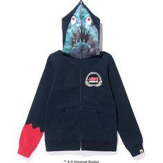 Jaws shark full zip hoodie /l