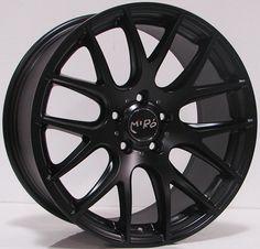 Miro 111 18x8.5 ET45 5x112 66.6 Matte Black Wheel