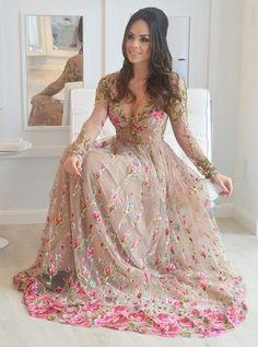 vestido de festa bordado floral patricia bonaldi