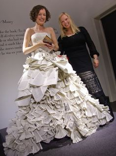 Once upon a time… The dress made from books for a fairy tale reading | jennifer pritchard bridal design