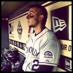 Tulo's game face in the dugout, just before first pitch on Opening Day 2012 in Houston