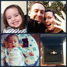 Evie and Elliott helped Daddy propose with this gorgeous 1.04ct Emerald cut diamond ring!