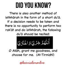 Dua for istikhara Beautiful Quran Quotes, Quran Quotes Inspirational, Islamic Love Quotes, Muslim Quotes, Religious Quotes, Duaa Islam, Islam Hadith, Islam Quran, Alhamdulillah