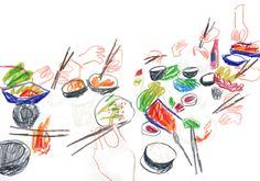 charlotteagerillustration:korean barbequeue