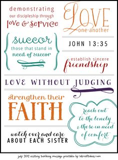 LDS Craft Ideas — Handouts activities for Primary, Young Womens, Relief Society, and more! Visiting Teaching Conference, Visiting Teaching Message, Visiting Teaching Handouts, Relief Society Activities, Relief Society Handouts, Relief Society Lessons, Teaching Quotes, Lds Quotes, Mormon Quotes