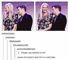 Hehe, I think this is IRL with Gwen and RDJ..but still lol
