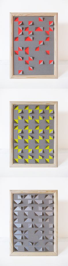 geo DIY  - folded paper