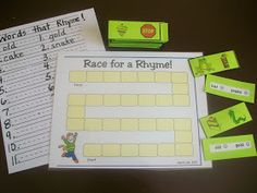 The following are rhyming activities that I got from the Carl's Corner Website. Carl's Corner Rhyming Link!   Race for a Rhyme! by Carl's Co...