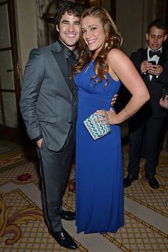 Darren Criss Cuddles Up to Mia Swier at the Tony's in New York CIty on June 9, 2013
