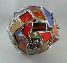 mosaic stained glass ornament ball home decor by mosaicsbymargo, $40.00