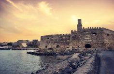 Koules, the Venetian Fortress in Heraklion, Crete Beautiful Scenery, Beautiful Places, Heraklion, Greek Culture, Go See, Dream Land, Greece Travel, Auntie, Venetian