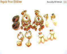 Holiday Sale Vintage Earring Lot - Lot of Earrings - Earring Destash - Jewelry Destash by BohemianGypsyCaravan