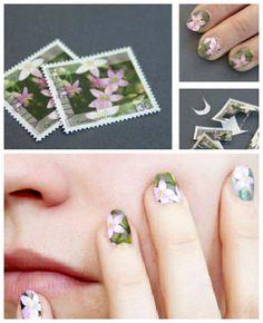 Postage stamp manicure? ReFab Diaries: Repurpose: Playful Postage ...