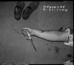 LAPD archive photographs of crime scenes - September 23, 1950 (via The Daily Mail)