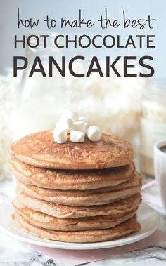 How to make pancakes!! Seriously guys this Hot chocolate pancake recipe is the…