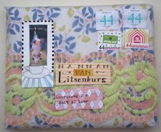 what a fun envelope & address label combo!
